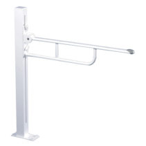 Pressalit Floor Fixed Folding Support Rail - Height Adjustable