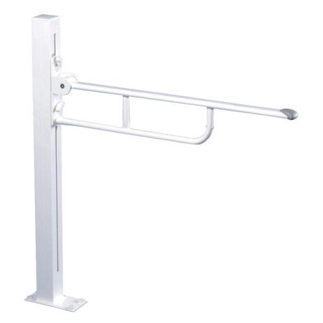 Pressalit Floor Fixed Folding Support Rail - Height Adjustable