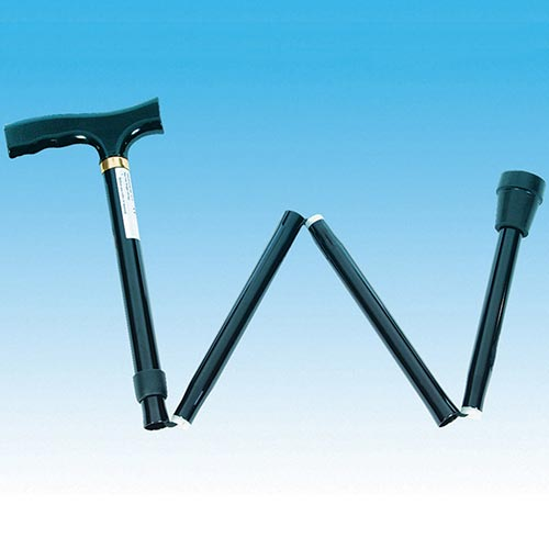 Folding Walking Stick with Contour or Fischer Handle