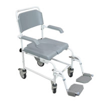 Bewl Shower Commode Chair - Attendant Propelled